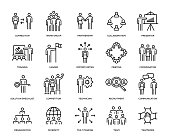 Business People Icon Set - Thin Line Series