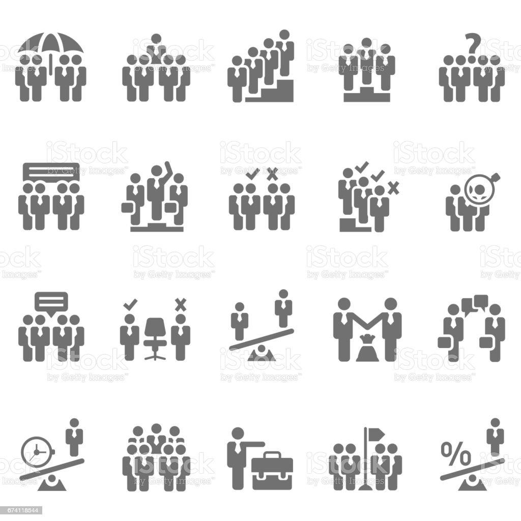 業務人圖示集 免版稅 業務人圖示集 向量插圖及更多 人 圖片