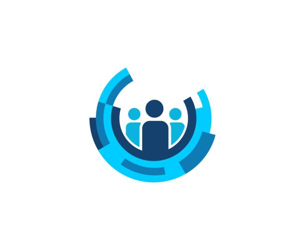 business people icon - group of people stock illustrations