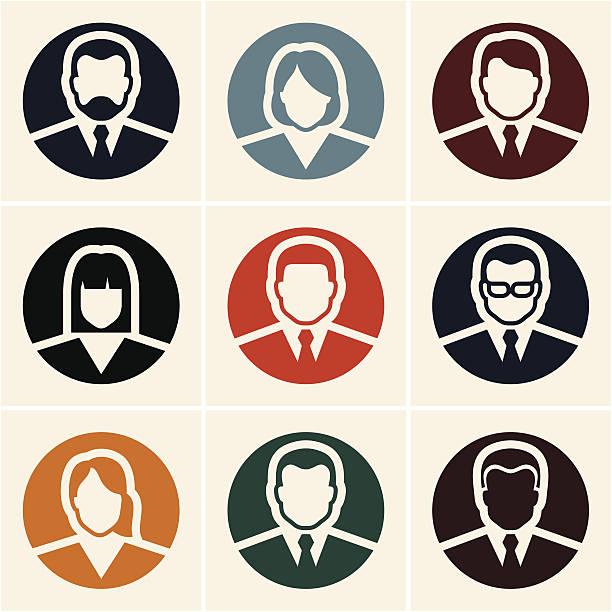 ilustrações, clipart, desenhos animados e ícones de ícones de pessoas de negócios.  avatar. - ceo