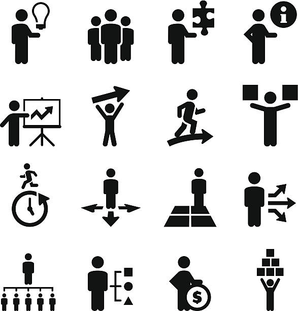 Business People Icons - Black Series Professional clip art for your print or Web project. See more icons in this series. community clipart stock illustrations
