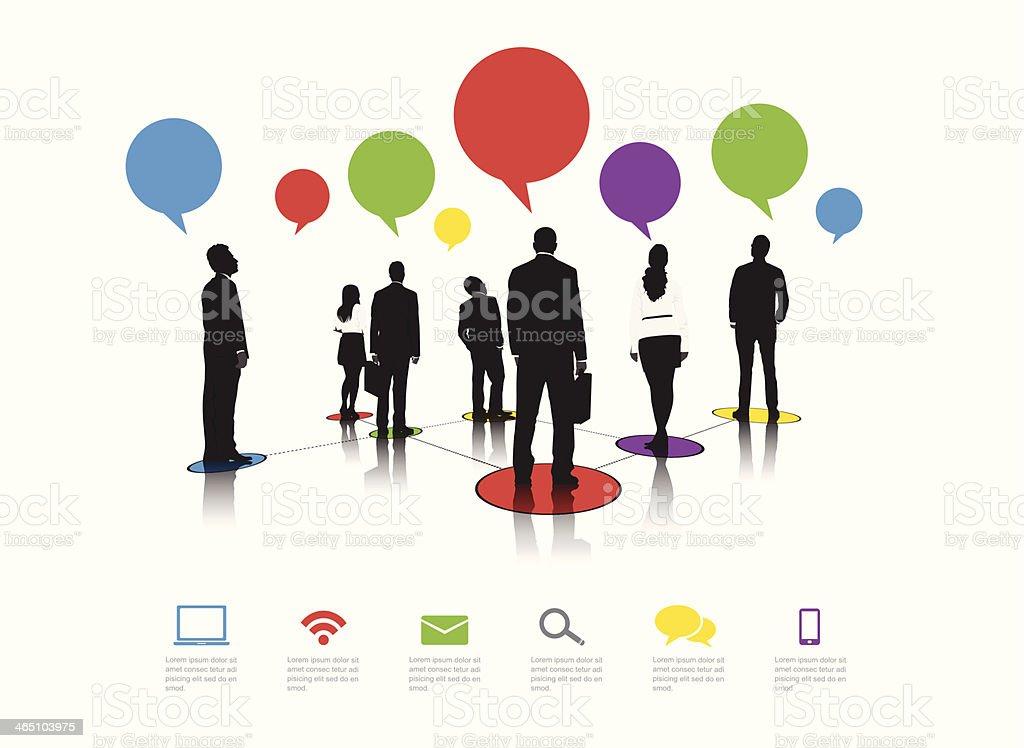 Business-Menschen-Ikonen-Blase – Vektorgrafik