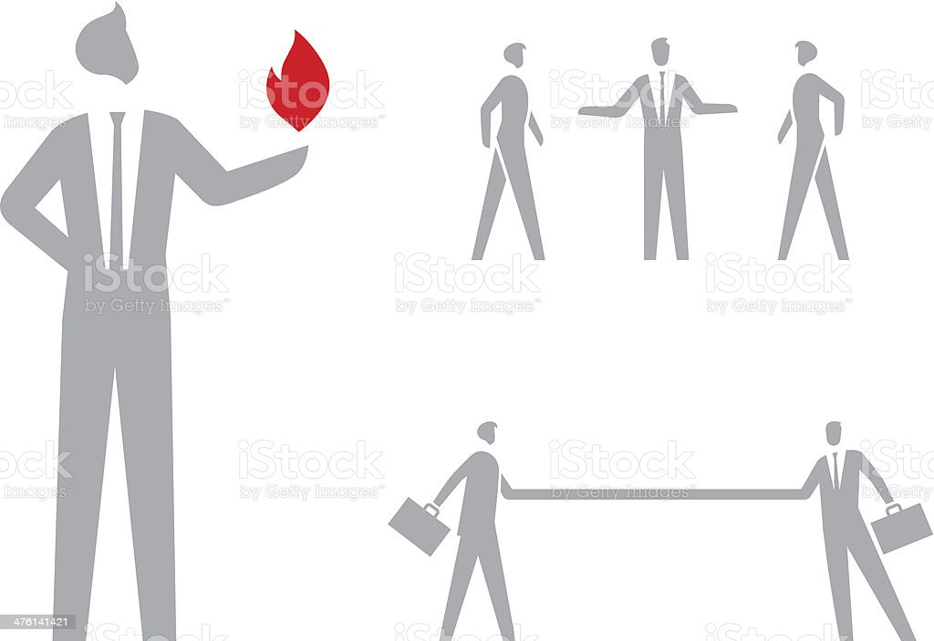 Business People Icons Set vector art illustration