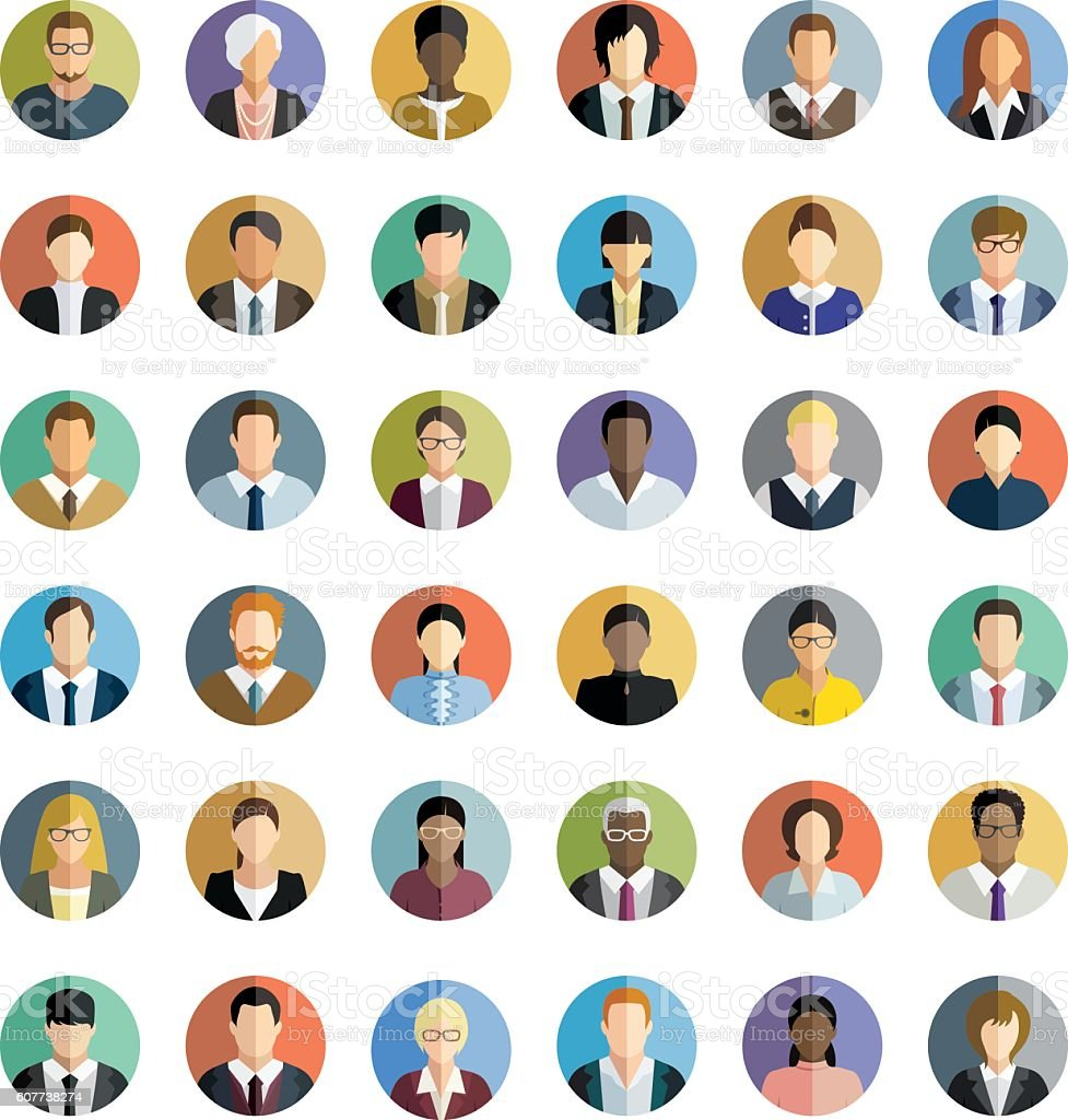 Business People. Icons set.