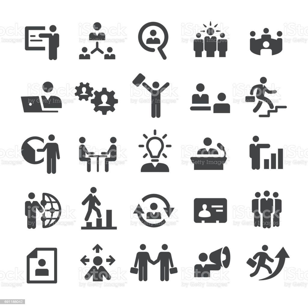 Business Leute Icons - Smart-Serie – Vektorgrafik