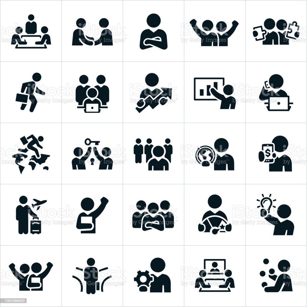 ビジネスの人々のアイコン ベクターアートイラスト