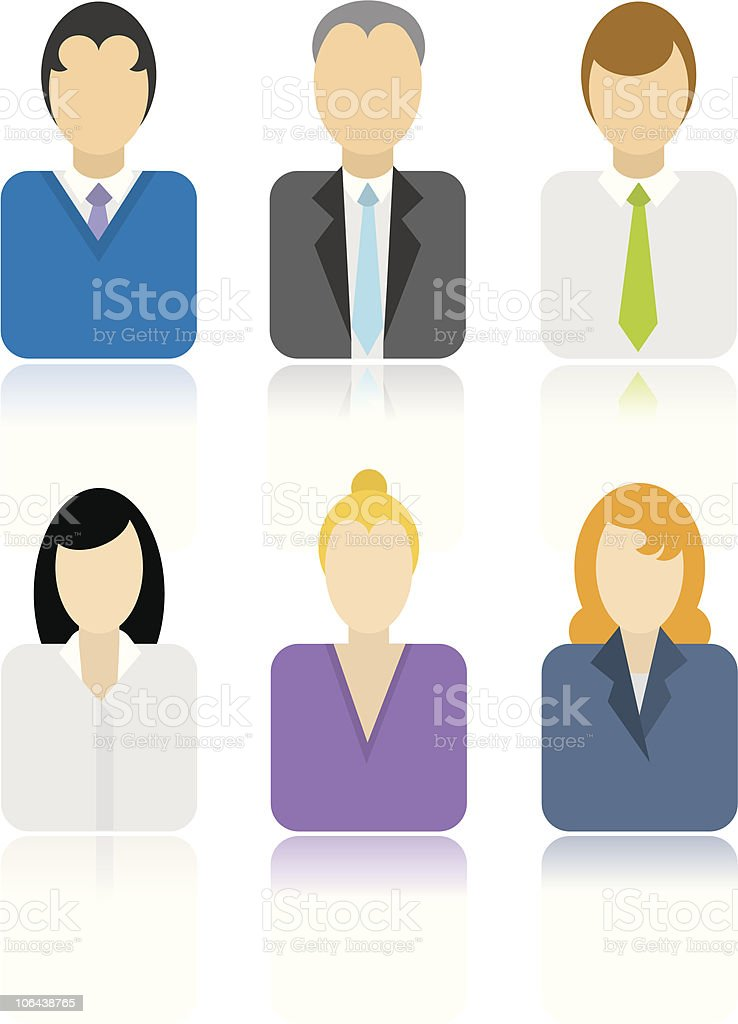 Business people icons royalty-free stock vector art