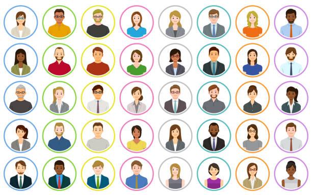 Geschäftsleute-Symbole – Vektorgrafik