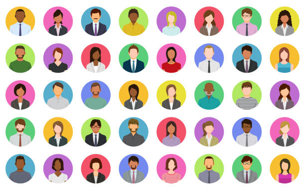 Business people icons 40 People icons. person icon stock illustrations