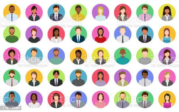 Business People Icons - Arte vetorial de stock e mais imagens de Abstrato