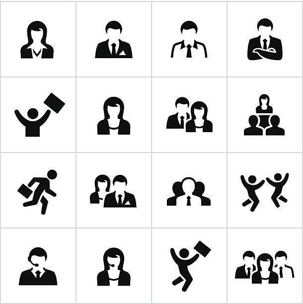 business-menschen-ikonen - elegante kleidung stock-grafiken, -clipart, -cartoons und -symbole
