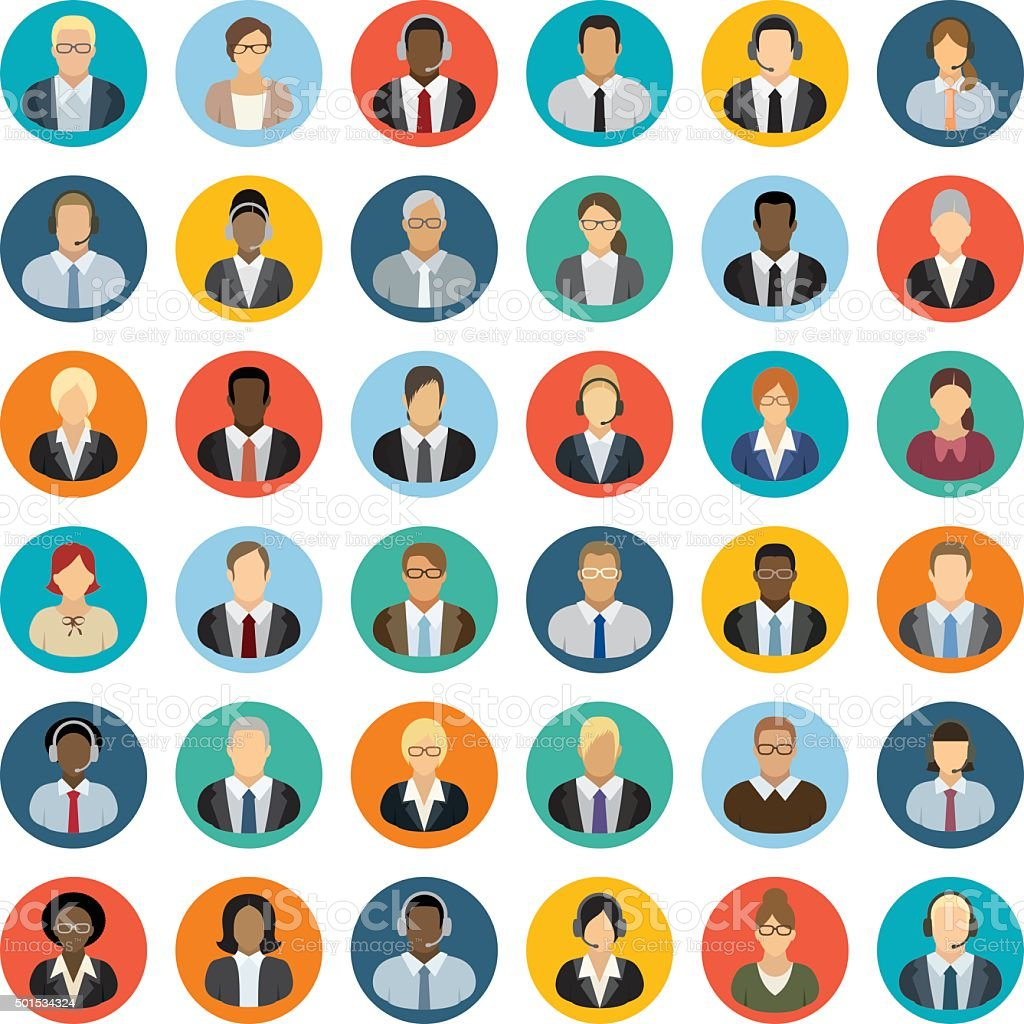 Business People Icons stock vector art 501534324   iStock