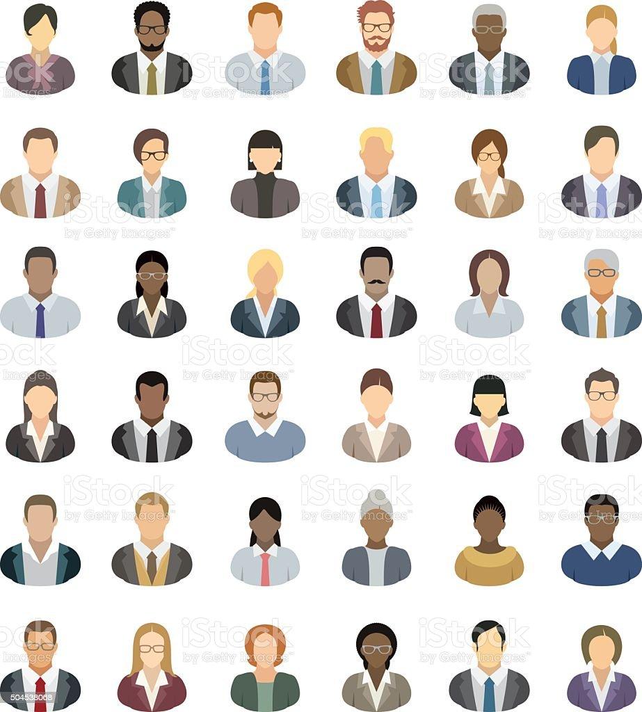 Icônes de gens d'affaires - Illustration vectorielle