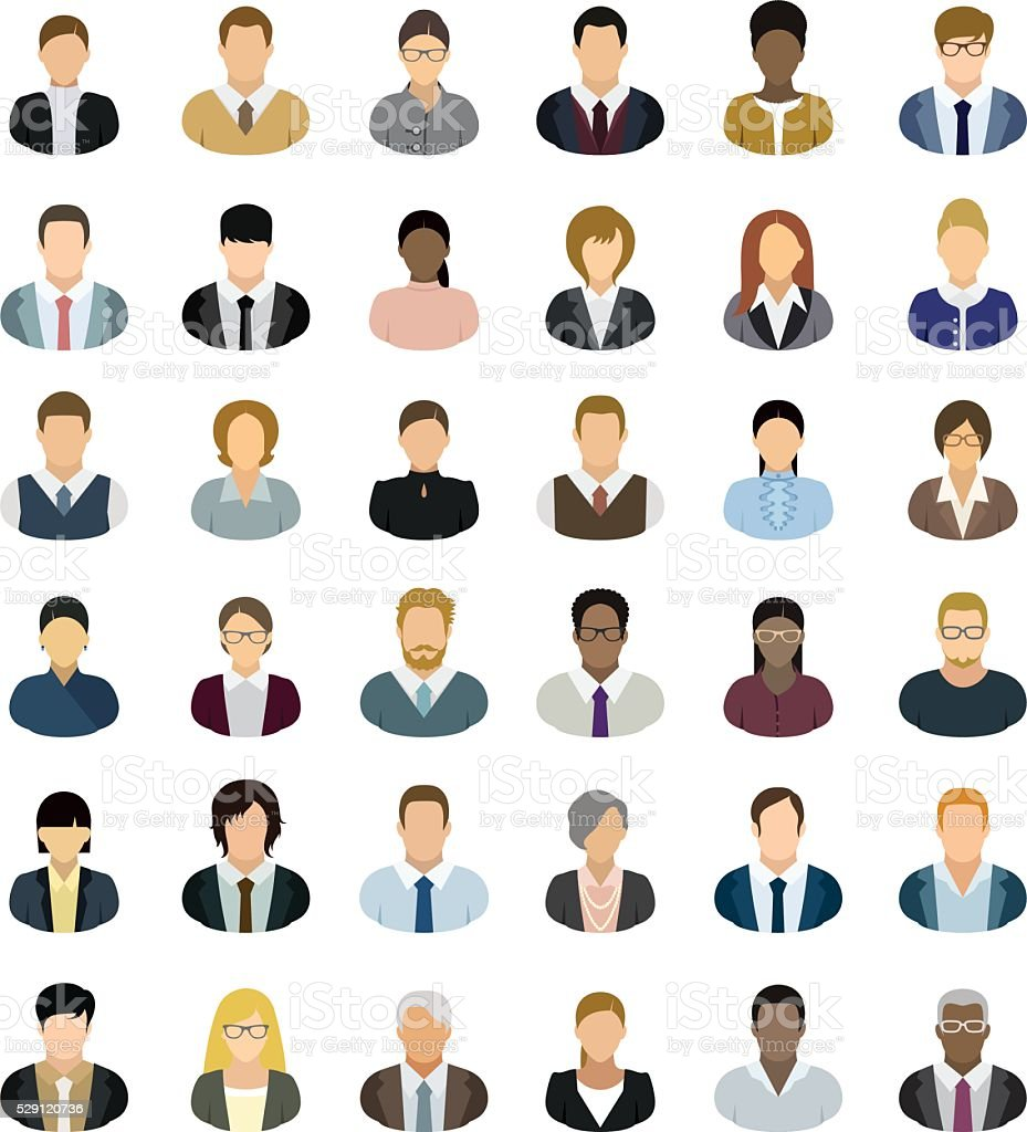 Business People Icons royalty-free business people icons stock illustration - download image now