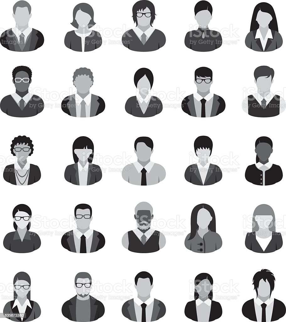 Business People Icons. vector art illustration