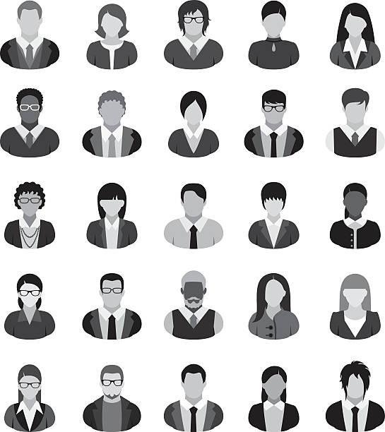 business people icons. - mittel stock-grafiken, -clipart, -cartoons und -symbole