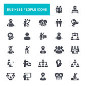 Conference - Event, Meeting, Business Meeting, Presentation, Icon Set