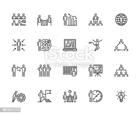 Business People Icons, Conceptual Ideas, Vector and Illustration
