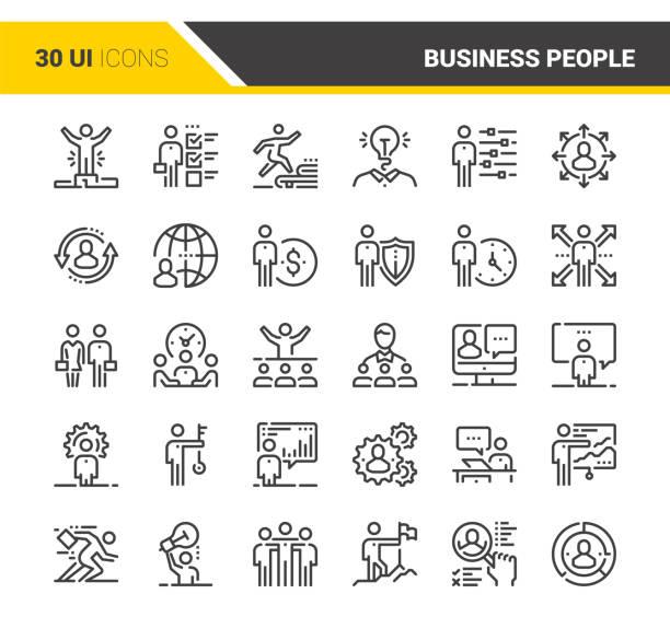 Business-Menschen-Ikonen – Vektorgrafik