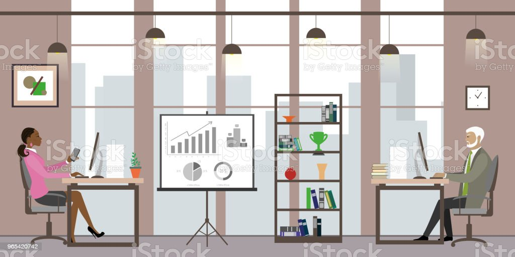 Business people in modern office,Cartoon office manager royalty-free business people in modern officecartoon office manager stock vector art & more images of adult