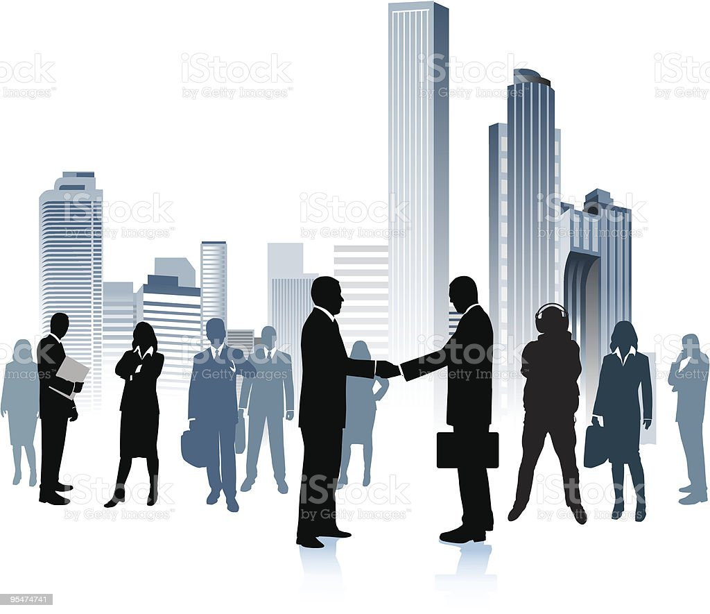 Business people in the big city. royalty-free stock vector art
