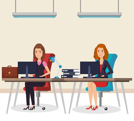Mensen Uit Het Bedrijfsleven In De Office Isometrische Avatars Stockvectorkunst en meer beelden van Attaché