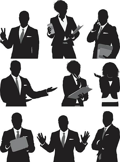 ilustrações de stock, clip art, desenhos animados e ícones de pessoas de negócios em várias acções - da cintura para cima
