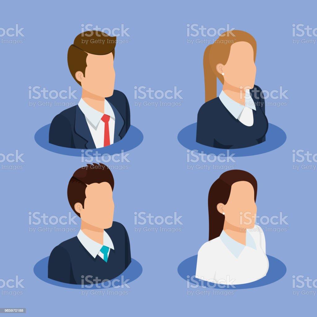 business people isometric avatars - Royalty-free Avatar arte vetorial