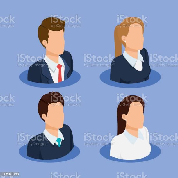 Business People Isometric Avatars - Arte vetorial de stock e mais imagens de Avatar
