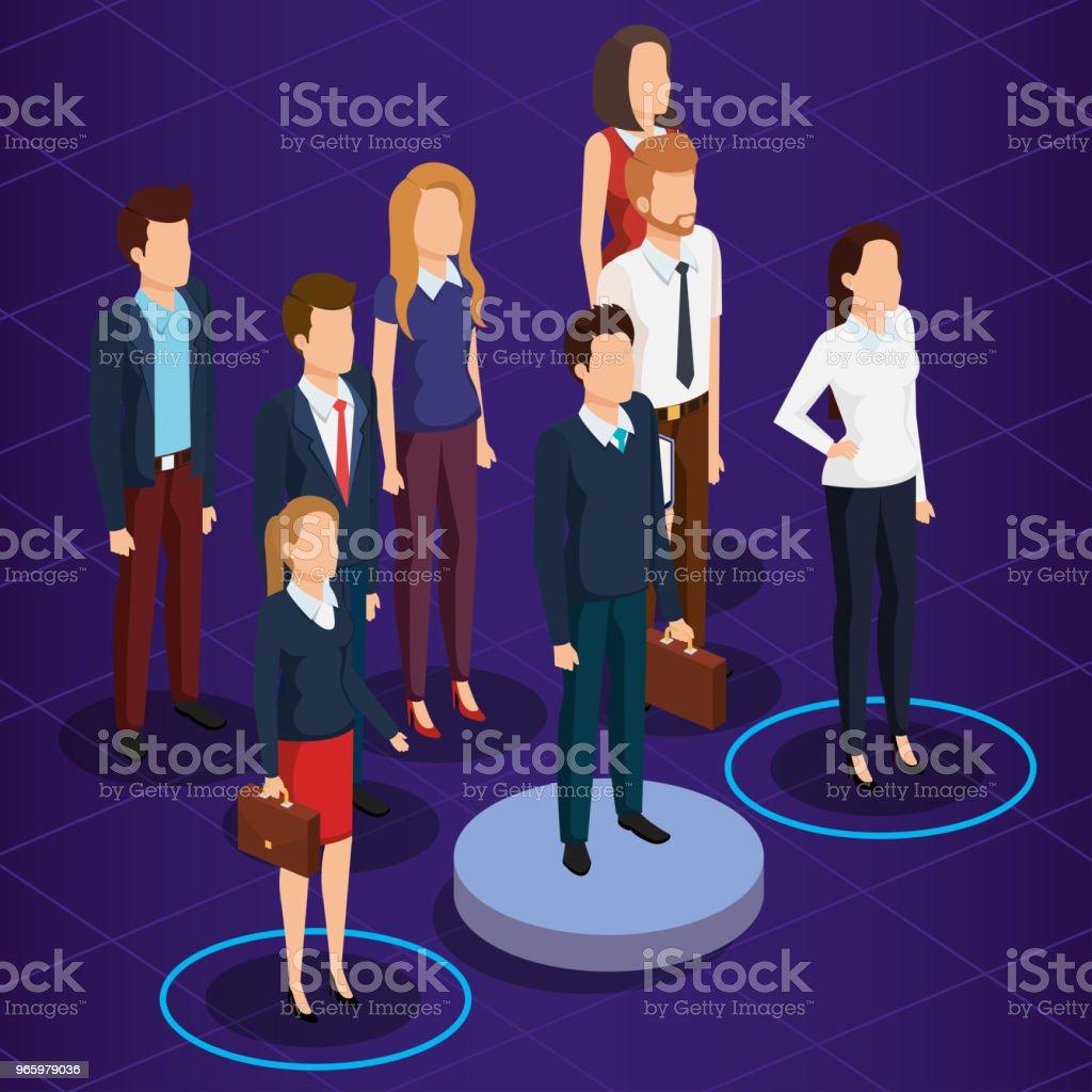 Business-Leute isometrische Avatare - Lizenzfrei Aktenmappe Vektorgrafik