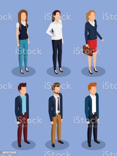 Businessleute Isometrische Avatare Stock Vektor Art und mehr Bilder von Anzug