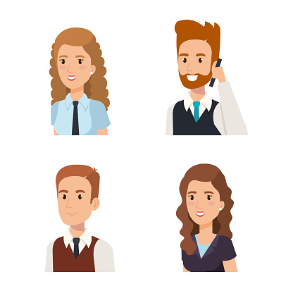 Business Mensen Isometrische Avatars Stockvectorkunst en meer beelden van Avatar