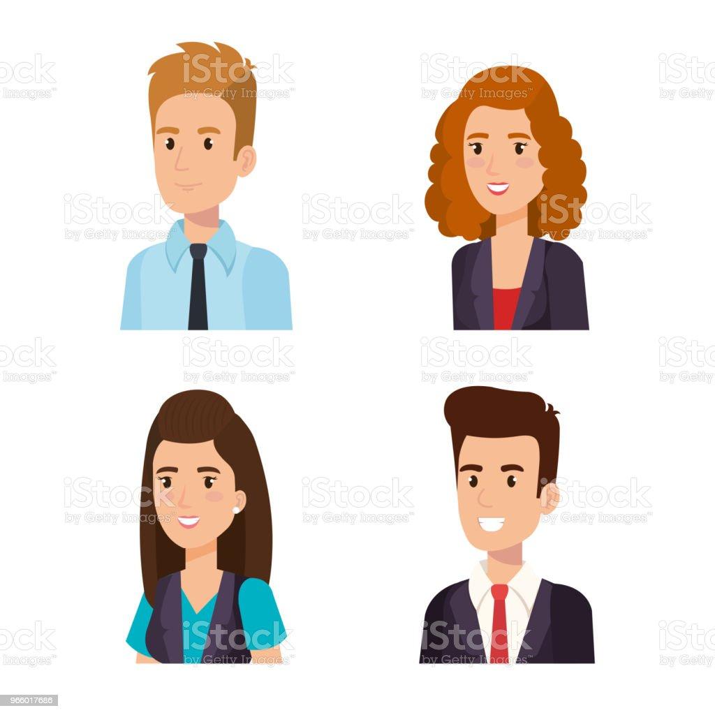 Business mensen isometrische avatars - Royalty-free Avatar vectorkunst