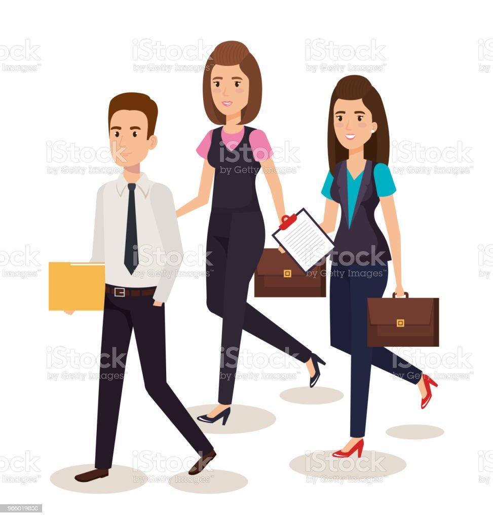 business people isometric avatars - Royalty-free Avatar stock vector