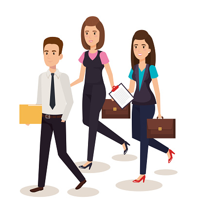 Business People Isometric Avatars Stock Illustration - Download Image Now