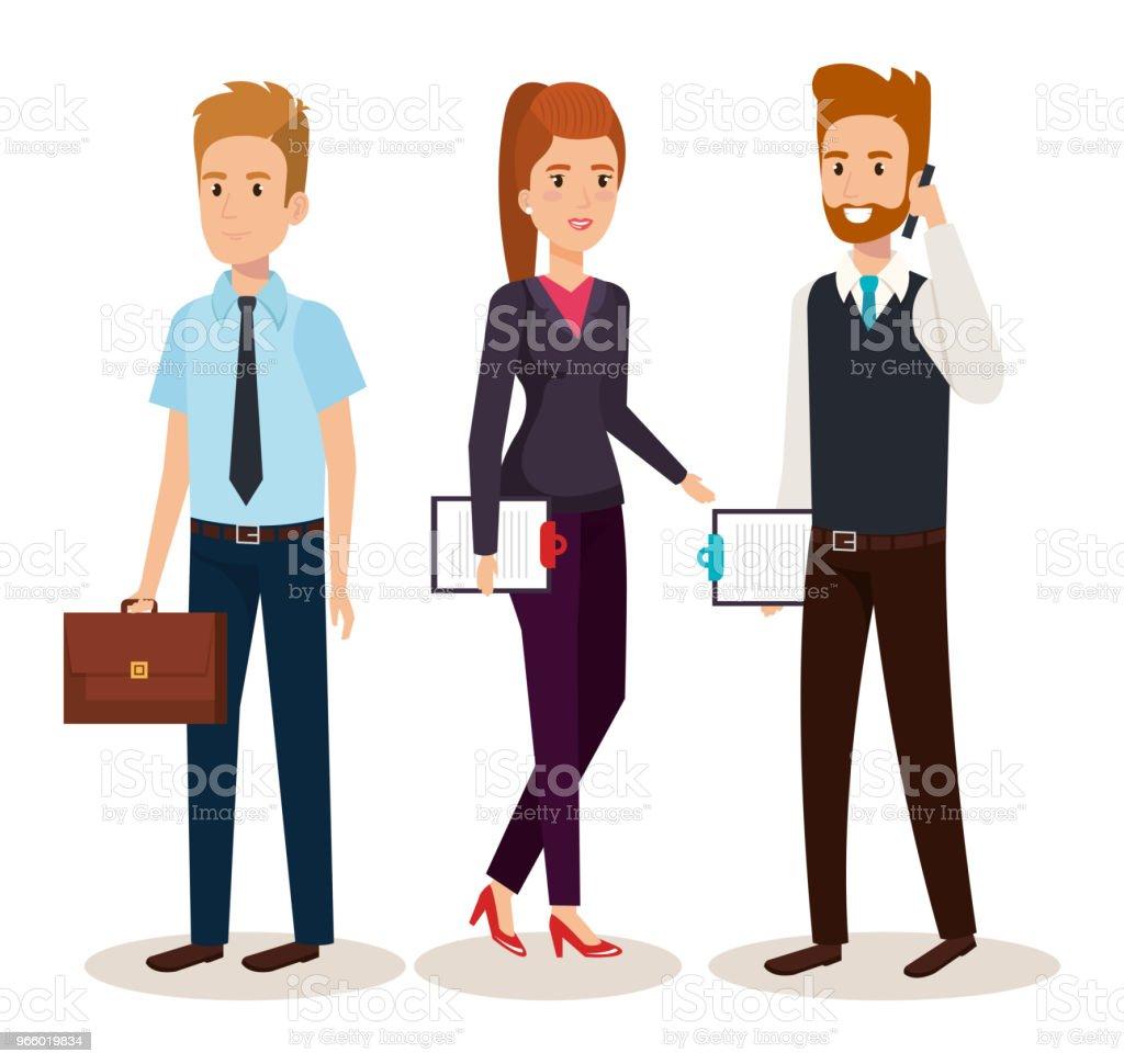 företag personer isometrisk avatarer - Royaltyfri Affärsmänniska vektorgrafik