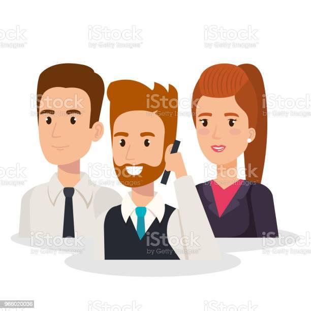 Business People Isometric Avatars — стоковая векторная графика и другие изображения на тему Аватарка