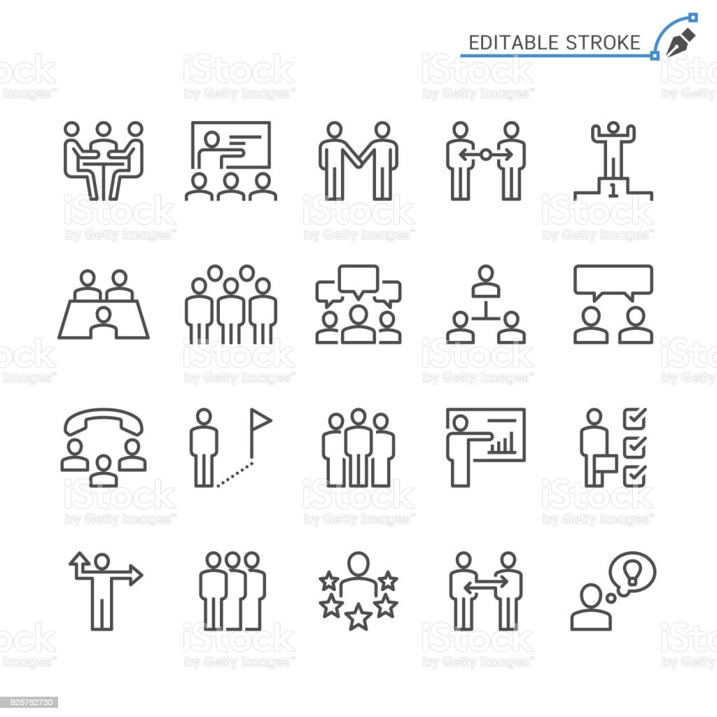 Business people line icons. Editable stroke. Pixel perfect. royalty-free business people line icons editable stroke pixel perfect stock illustration - download image now