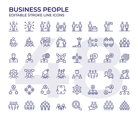 Business People Line Icons