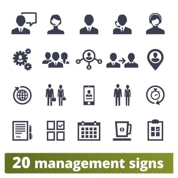ilustrações, clipart, desenhos animados e ícones de pessoas de negócios, gestão e trabalho em equipe ícones - business man