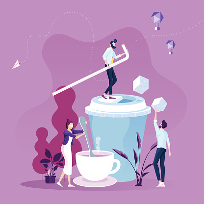 Business People on Coffee Break Concept vector