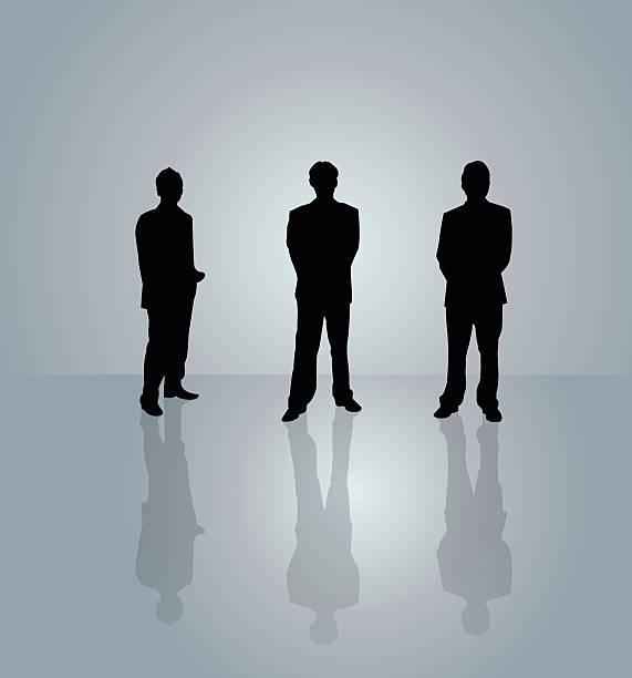 ビジネスの人々に灰色の背景 - 背景に人点のイラスト素材/クリップアート素材/マンガ素材/アイコン素材