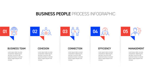 business people related process infographic design - entrepreneurship stock illustrations
