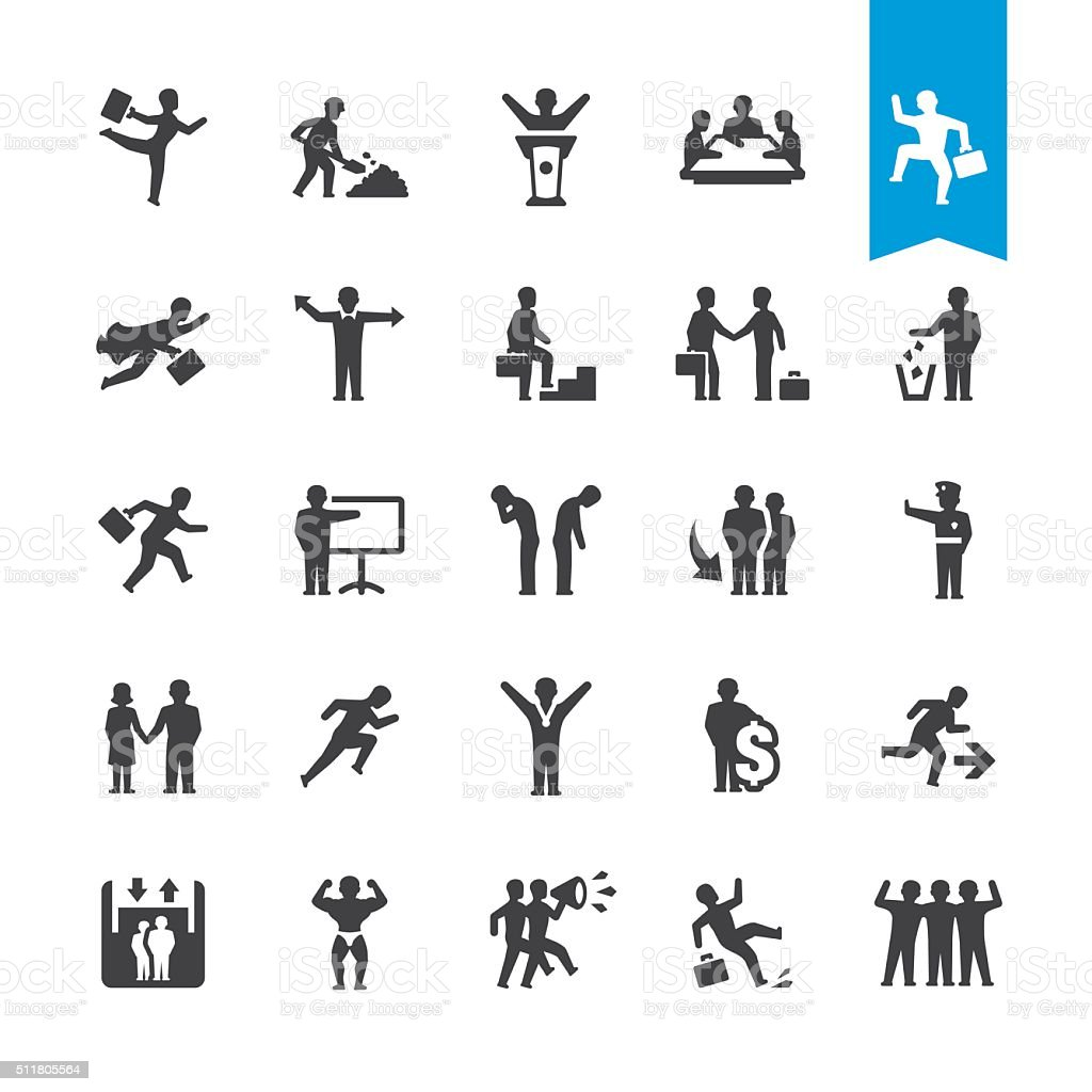Business People Relationship vector icons vector art illustration