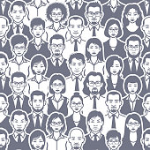 Business people seamless pattern