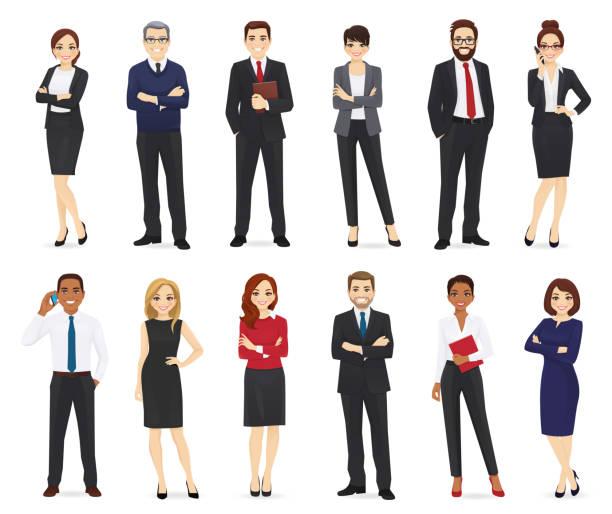 ilustrações, clipart, desenhos animados e ícones de executivos ajustados - business man