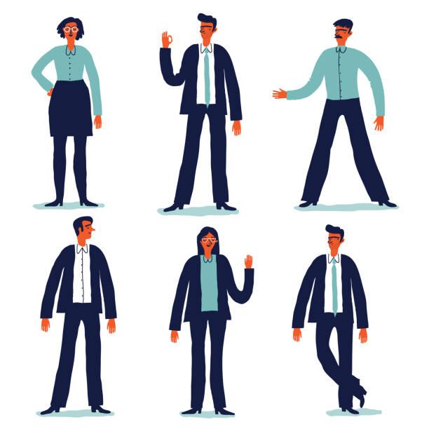 Geschäftsleute-set – Vektorgrafik