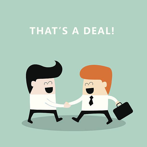 illustrazioni stock, clip art, cartoni animati e icone di tendenza di business persone agitare le mani di uomini d'affari concludono un accordo d'affari di successo - near