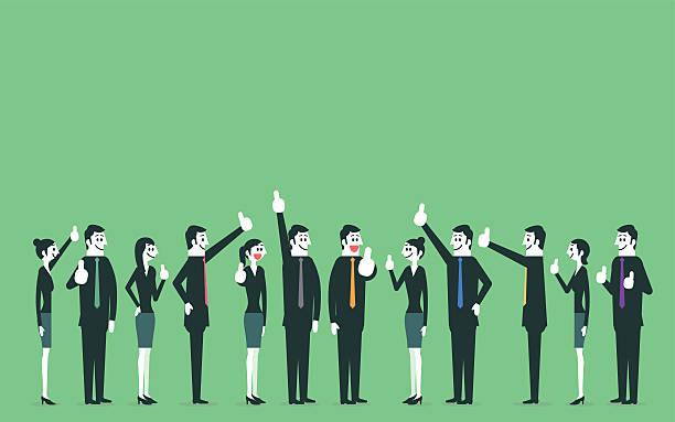Gens d'affaires montrant thumbs up - Illustration vectorielle
