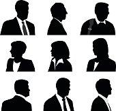 Business People Silhouette Profile